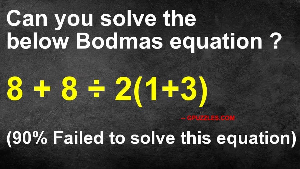8 + 8 / 2(1+3) Viral Maths Puzzle