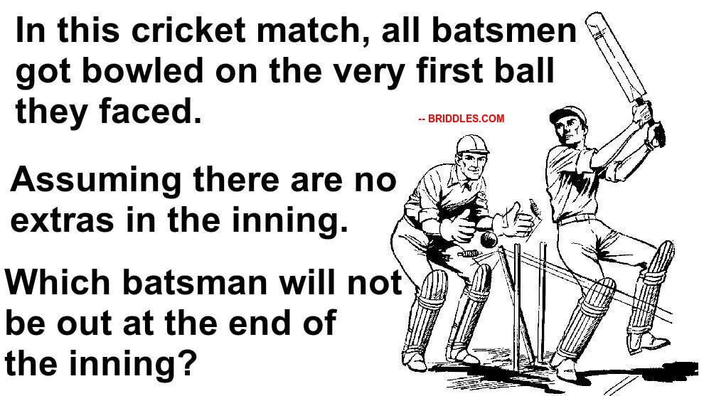 Cricket Brain Teaser