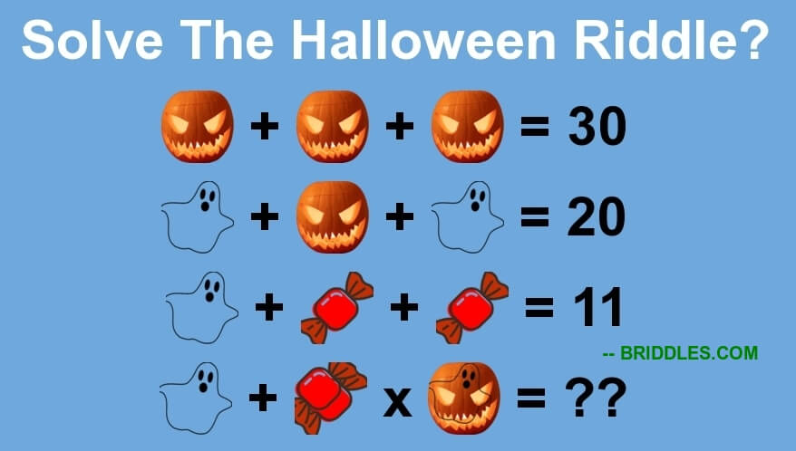 Good Halloween Equation Brain Teaser