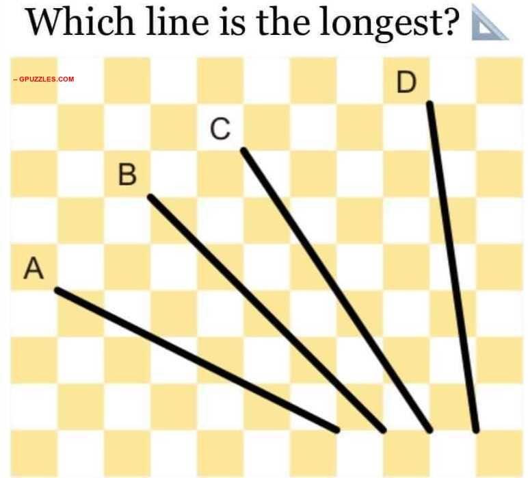 Longest Line Brain Teaser