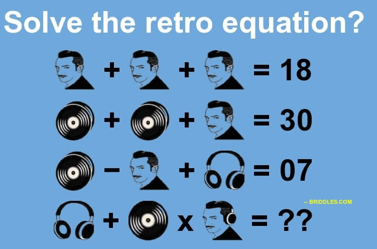 Men Disc and Headphone Equation Puzzle