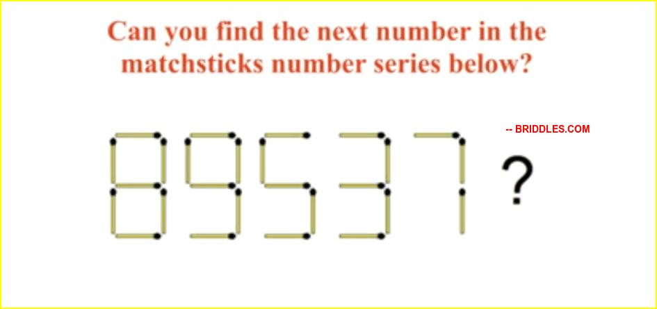 Next number in matchstick Brain Teaser