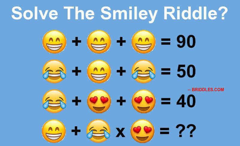 Smiley Algebraic Brain Teaser