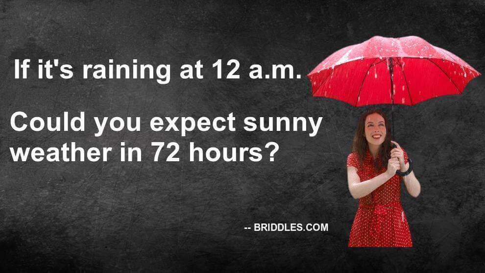 Weather Prediction Brain Teaser