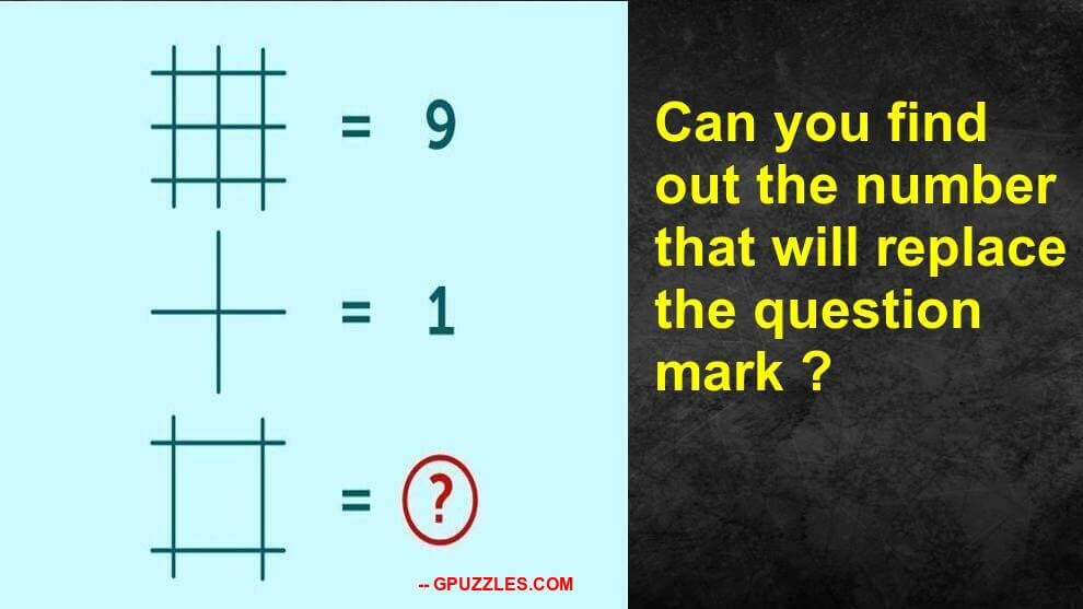 Which number replaces the question mark in the picture below