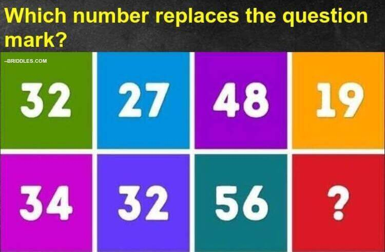 which number replaces the question mark puzzle